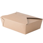 "8"" x 6"" x 2 1/2"" - Kraft Take Out Container"