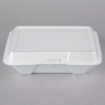 "9"" x 6"" x 3"" - Foam Clamshell Take Out Container"