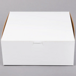 "10"" x 10"" x 4"" White Cake/Bakery Box"