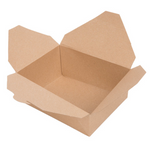 "6 1/2"" x 5 3/4"" x 2 1/2"" - Kraft Take Out Container"