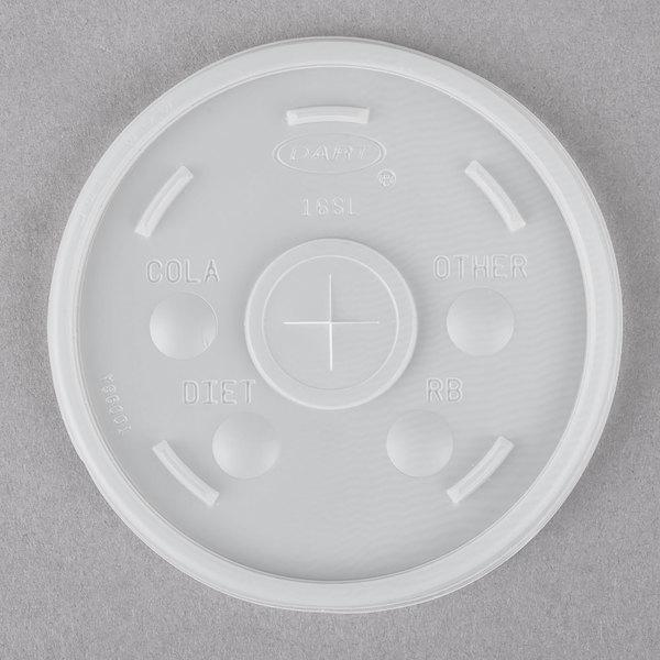12 - 24 oz  Foam Cup Lids With Straw Slot