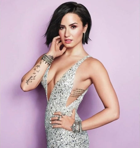 Demi close up posing
