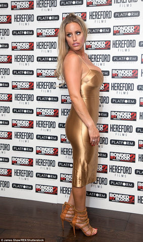 danielle mason, bonded by blood, premiere, hereford, films, gold, dress, model, bigi fat gypsy wedding, red carpet
