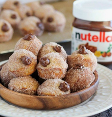 Nutella and Cinnamon Doughnut Holes