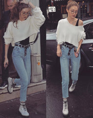 gigi hadid, model, fashion, denim, blog