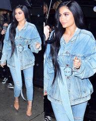kylie jenner, denim, fashion, style, blog, kardashian