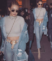gigi hadid, denim, style, model, blog, inspiration