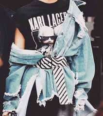 karl lagerfeld, denim, style, inspiration, blog