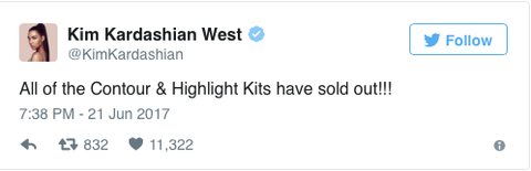 kim k, kim kardashian, west, kkw, beauty, tweet, tweets, twitter, sold out, sell out, blog