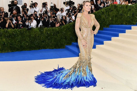 blake lively, versace, gown, met gala, 2017, red carpet