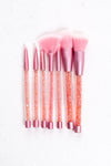 7 Piece Crystal Brush Set - Mirror Image Style