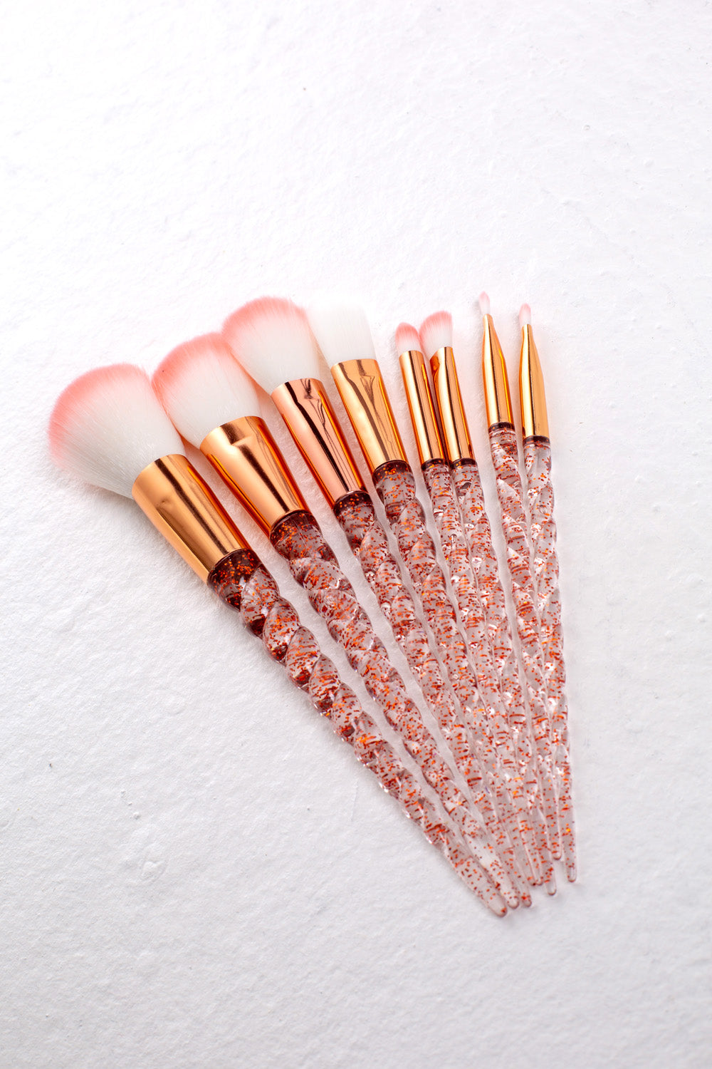 Pink Spiral Handle Brush Set - Mirror Image Style