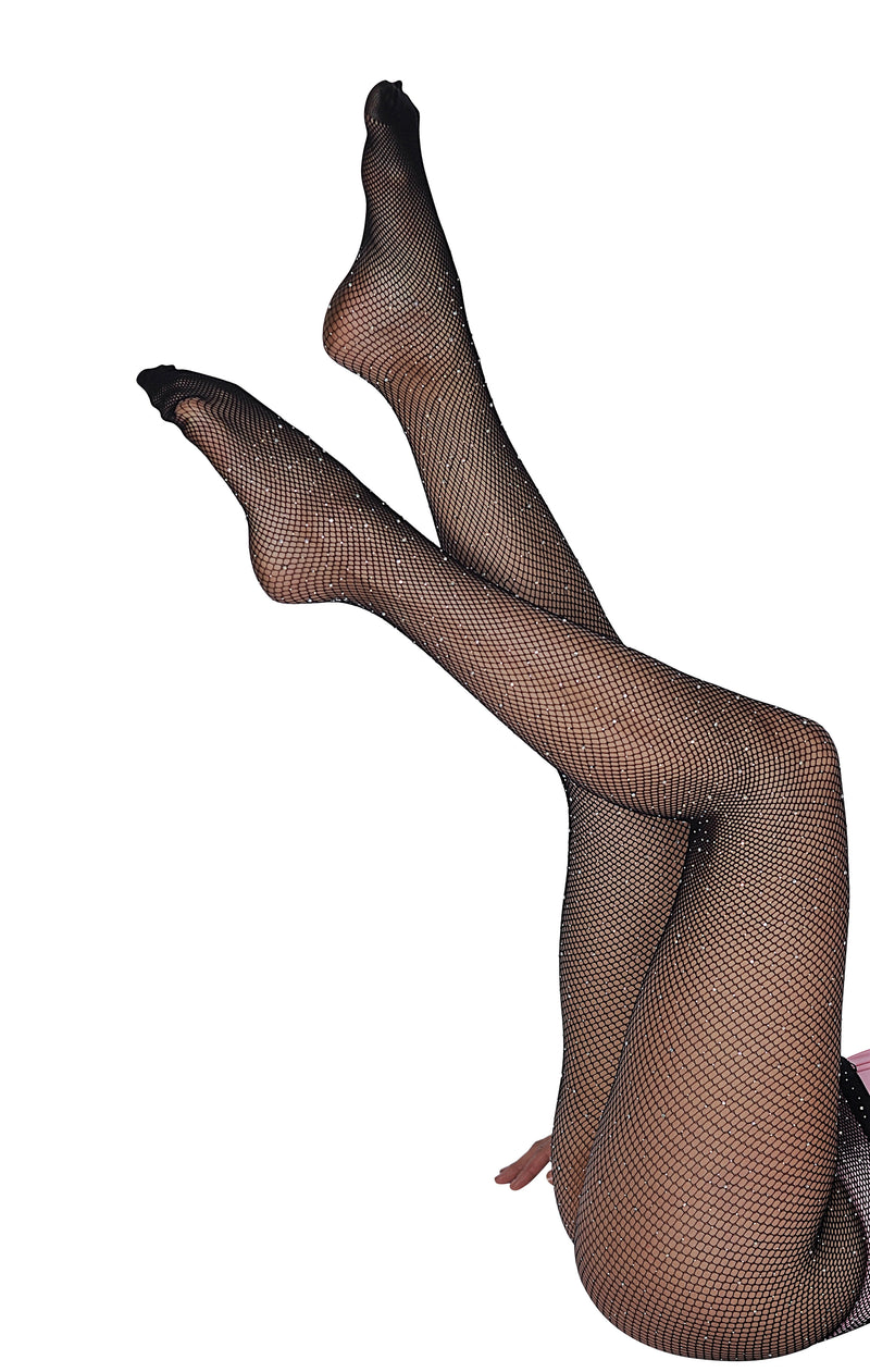 Diamante Fish Net Tights - Mirror Image Style