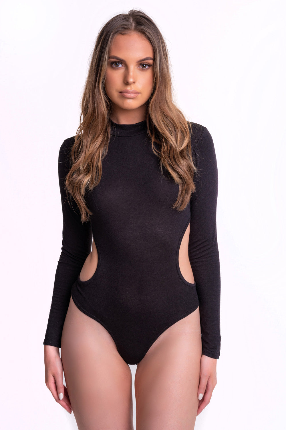 Cut Out Black Bodysuit - Mirror Image Style