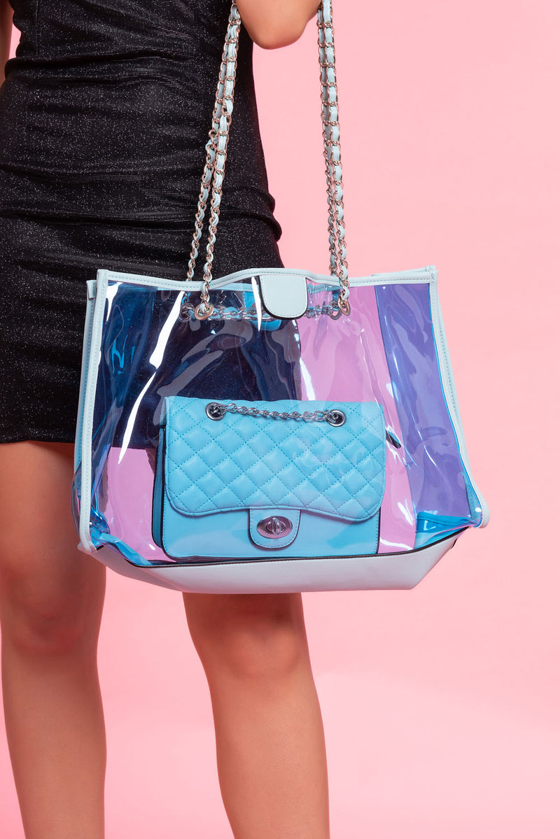 Blue Perspex Two Bag Set