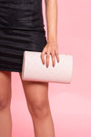 Studded Nude Clutch Bag