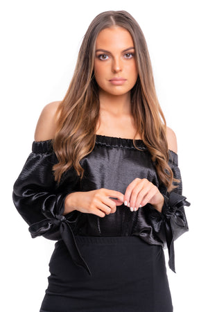 Satin Bat Wing Top