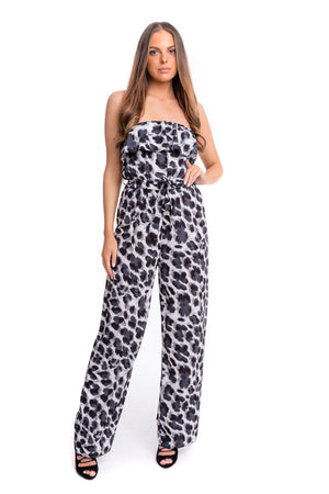 Strapless Frill Jumpsuit - Mirror Image Style