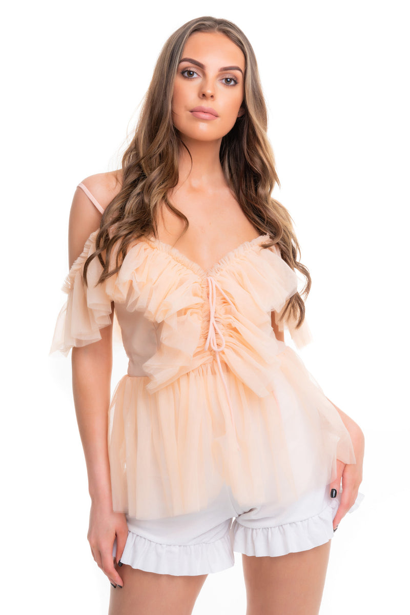 Voile Peach Top