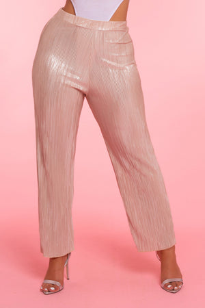 Gold Pleat Trousers
