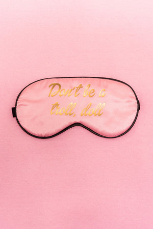 Pink Satin Sleep Eye Mask