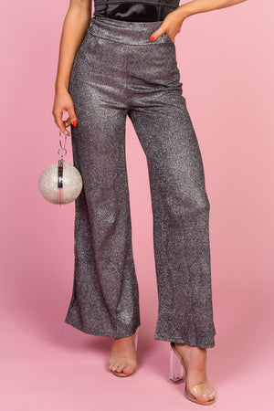 Grey Glitter Trousers