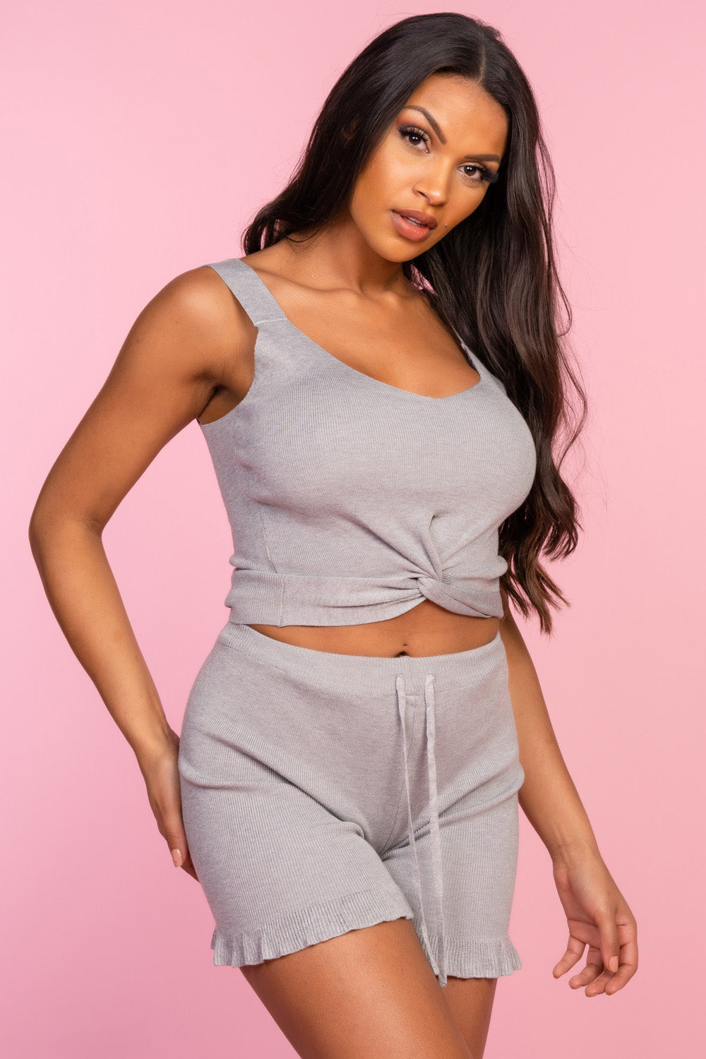 Grey Cami Lounge Set