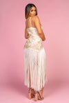 White Long Tassle Dress