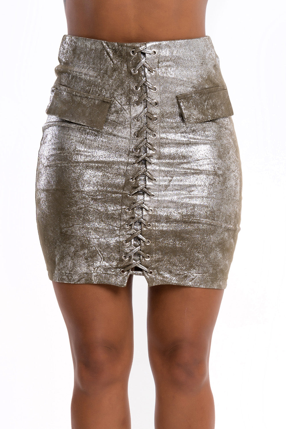 Shimmer Lace Up Skirt