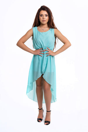 Aqua Blue Floaty Dress