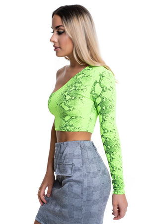 Green Snake Print Top - Mirror Image Style
