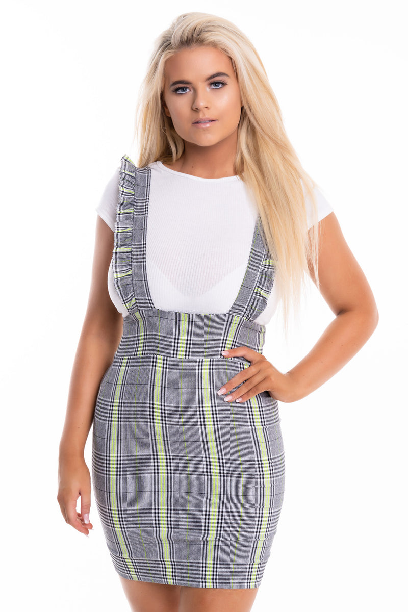 Neon Stripe Pinafore