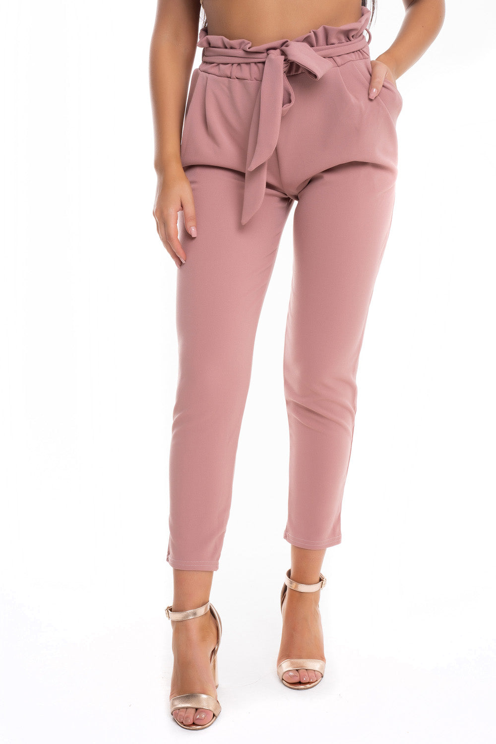 High Waist Tie Trousers - Mirror Image Style
