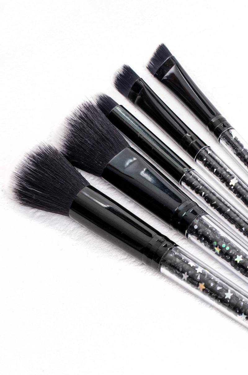 Black Glitter Brush Set