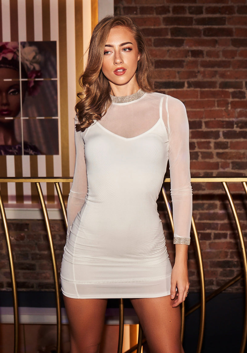 White Two Piece Dress - Mirror Image Style