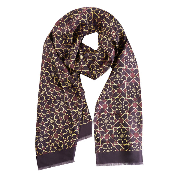 Silk Scarf brown