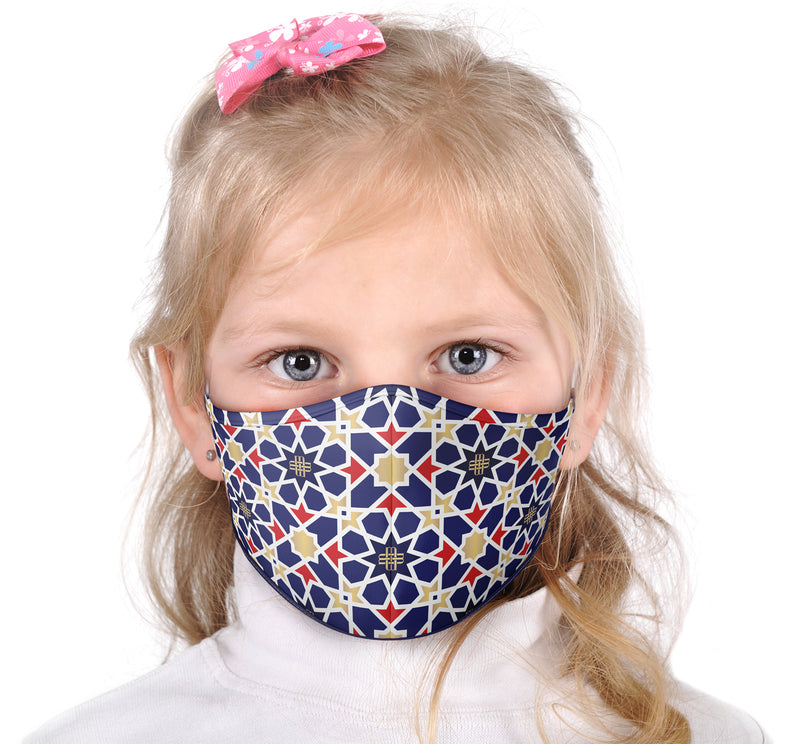 Kids Face Mask - Blue Mosaic