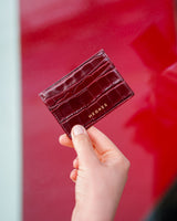 Jazzy Burgundy Card Holder