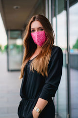 Solidarity Safety Mask - Radiant Rose