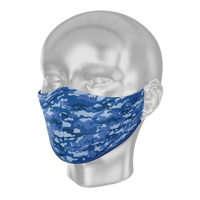 "Solidarity Safety Face Mask - Camo ""True Blue"""