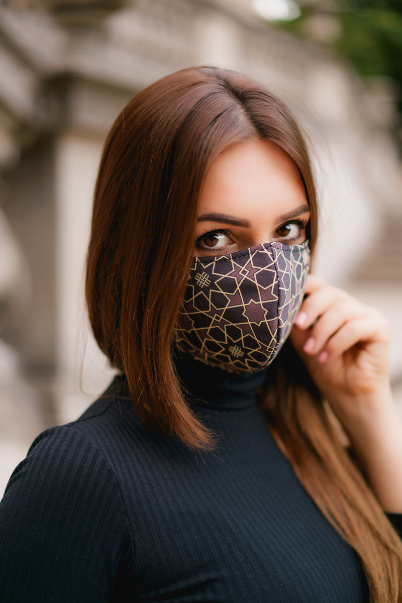 Solidarity Safety Mask - Gilded Brown