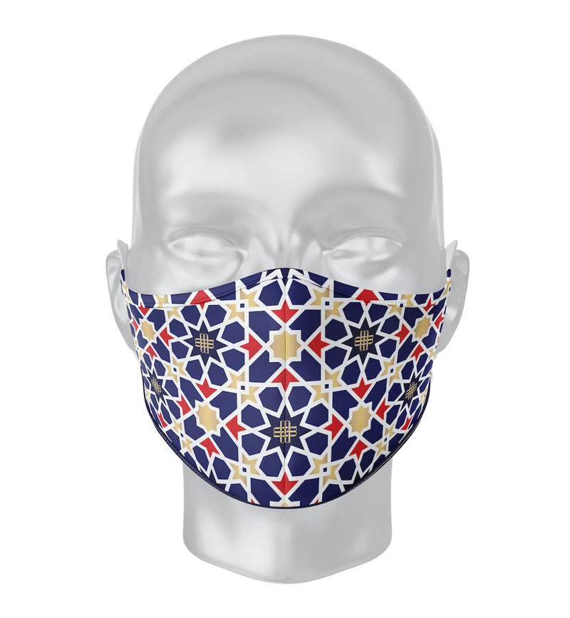 Solidarity Safety Mask - Blue Mosaic