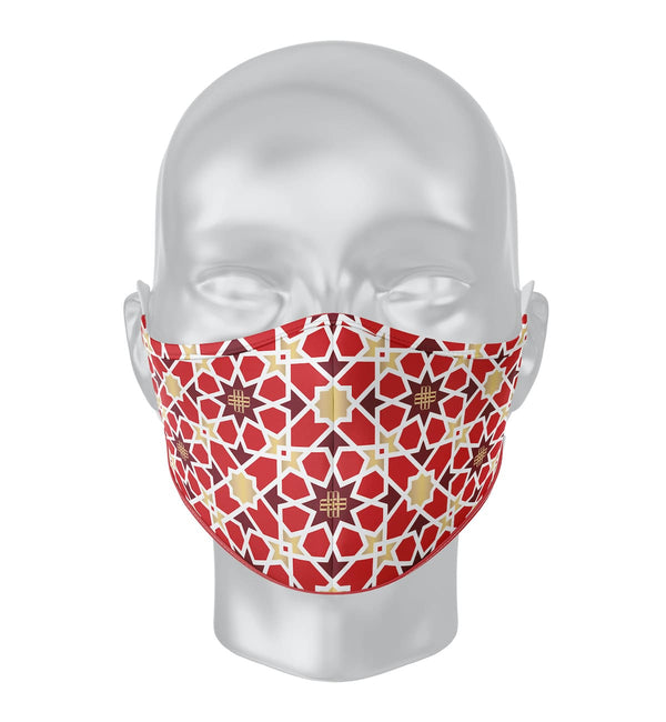 Solidarity Safety Mask - Sunny Red