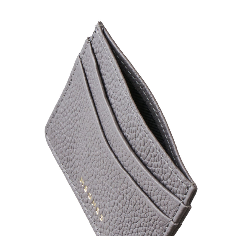 REFINED GRAY CARD HOLDER