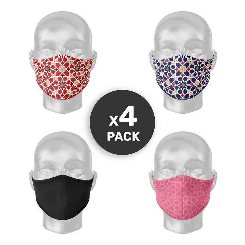 Meqnes Solidarety Face Masks [4-PACK]