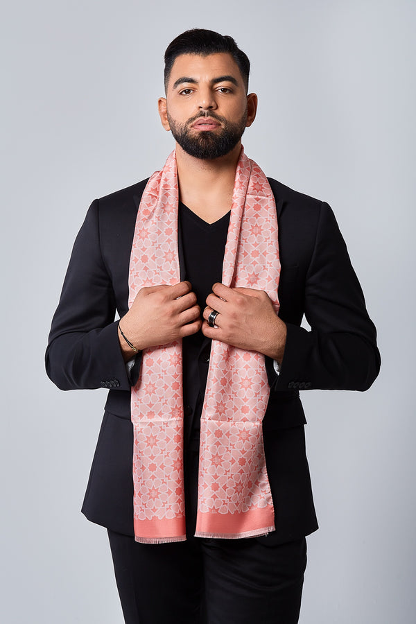 Silk Scarf - Radiant Rose