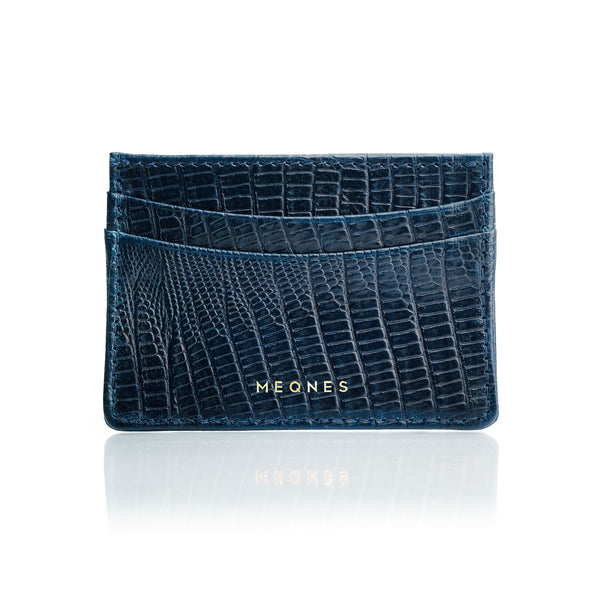 Deep Blue Card Holder