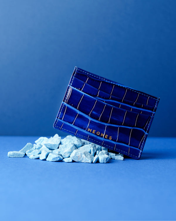 Electric Blue Card Holder