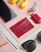 Deep Red Card Holder