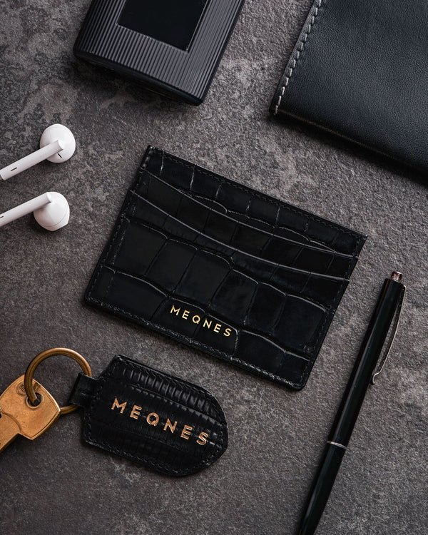 Jet Black Card Holder